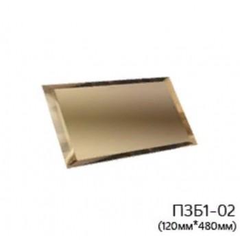 Прямоугольная бронзовая зеркальная плитка