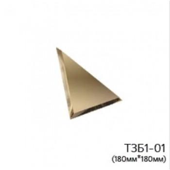 Треугольная бронзовая зеркальная плитка