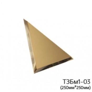 Треугольная матовая бронзовая зеркальная плитка