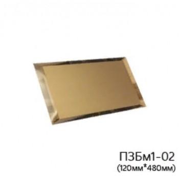 Прямоугольная матовая бронзовая зеркальная плитка