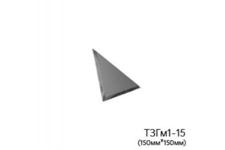 Треугольная матовая графитовая зеркальная плитка