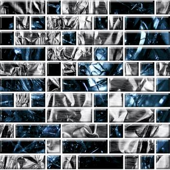 """Мозаика стеклянная """"Фьюжн"""" с чипами 79х25 мм и 25х25мм (295х295 мм)"""