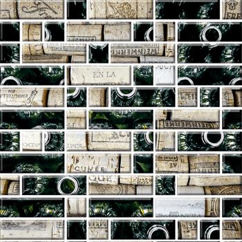 "Мозаика стеклянная ""Классика"" с чипами 79х25 мм и 25х25мм (295х295 мм)"