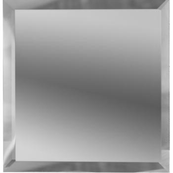 Квадратные зеркальные серебряные плитки с фацетом