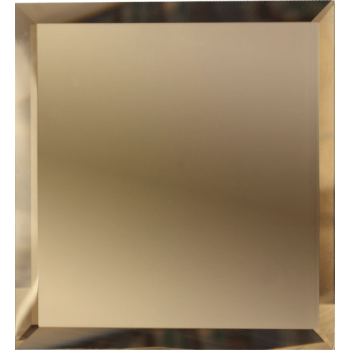 Квадратные зеркальные бронзовые матовые плитки с фацетом