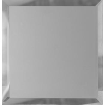 Квадратные зеркальные серебряные матовые плитки с фацетом