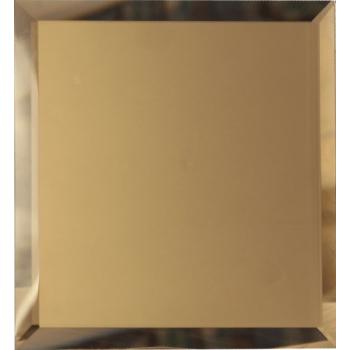 Квадратные зеркальные бронзовые плитки с фацетом