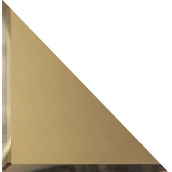 Треугольные зеркальные бронзовые матовые плитки с фацетом