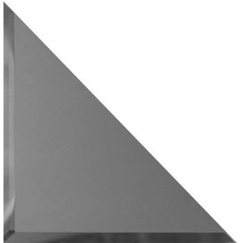 Треугольные зеркальные графитовые матовые плитки с фацетом