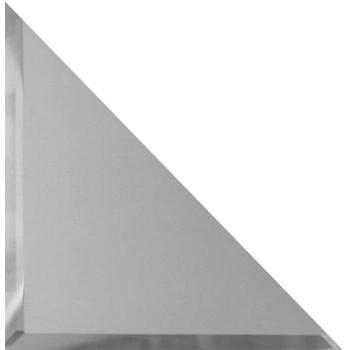 Треугольная зеркальная серебряная матовая плитка с фацетом 10 мм