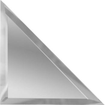Треугольная зеркальная серебряная плитка с фацетом