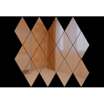 Зеркальная мозаика ромб бронза