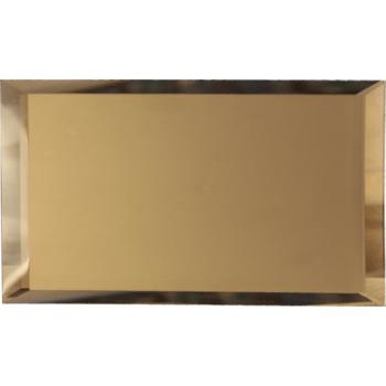 Прямоугольные зеркальные бронзовые матовые плитки