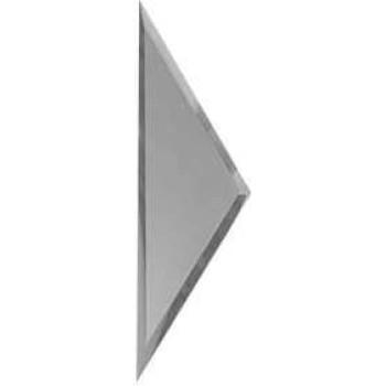 Зеркальная матовая серебряная плитка полуромб с фацетом