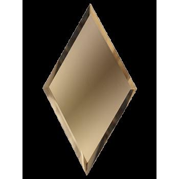 Зеркальная бронзовая матовая плитка ромб с фацетом