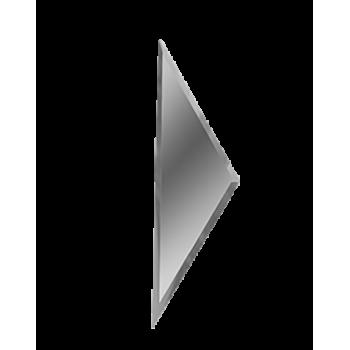 Зеркальная серебряная плитка полуромб с фацетом