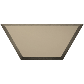Зеркальная бронзовая матовая плитка полусота с фацетом