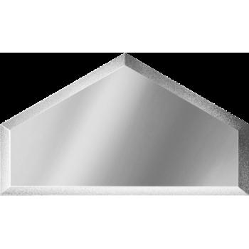 Зеркальная серебряная плитка полусота с фацетом