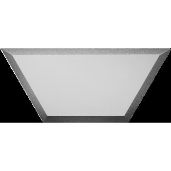 Зеркальная серебряная матовая плитка полусота с фацетом