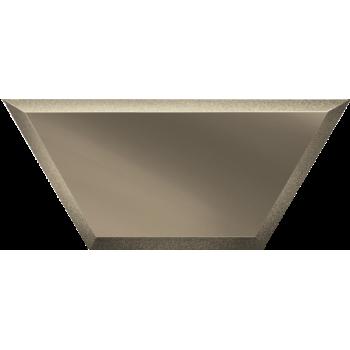 Зеркальная бронзовая плитка полусота с фацетом
