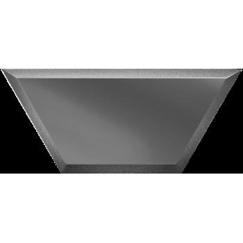 Зеркальная графитовая плитка полусота с фацетом
