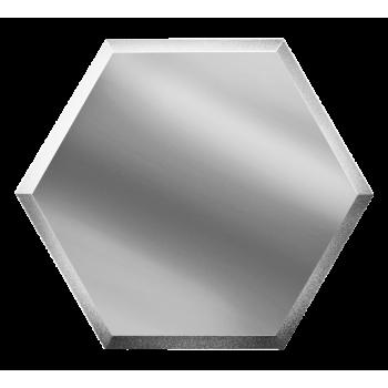Зеркальная  серебряная плитка сота с фацетом