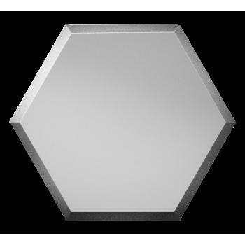 Зеркальная серебряная матовая плитка сота с фацетом