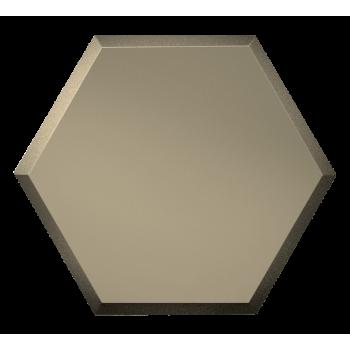 Зеркальная бронзовая матовая плитка сота с фацетом