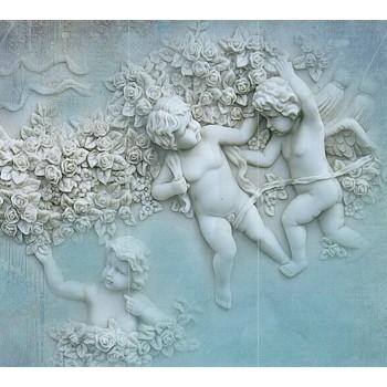 """Фотопанно """"Ангелы с цветами"""", 300х270см"""