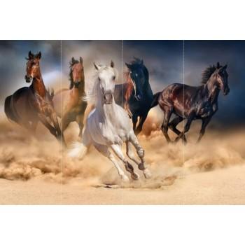 "Фотопанно ""Бегущие лошади"", 400х270cм"
