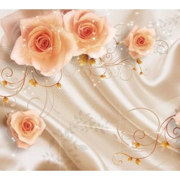 """Фотопанно """"Шелк и розы"""", 300х270мм"""