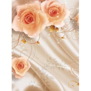 """Фотопанно """"Шелк и розы"""", 200х270мм"""