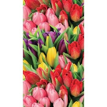 """Фотопанно """"Букет разноцветных тюльпанов"""", 155х270см"""