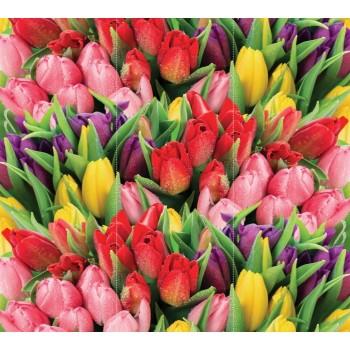"""Фотопанно """"Букет разноцветных тюльпанов"""", 465х270см"""