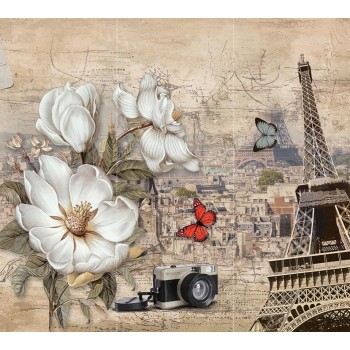 "Фотопанно ""Весточка из Парижа"", 300х270см"