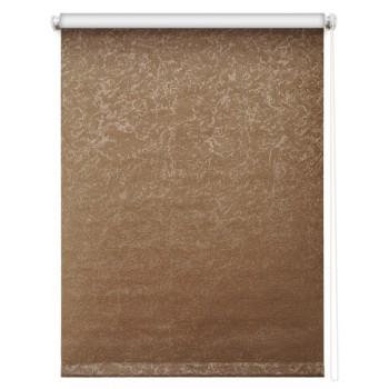 Рулонная штора Фрост Блэкаут коричневый