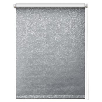 Рулонная штора Фрост Блэкаут серый