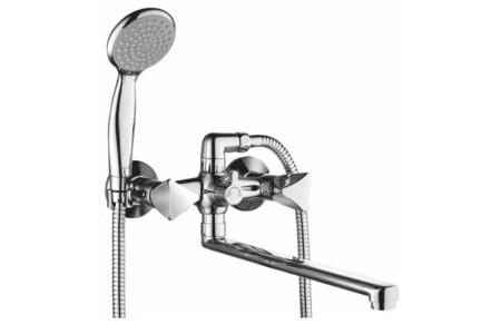 Смеситель для ванны и душа с длинным изливом 350 мм