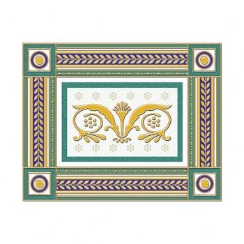 Бордюр Золотой бирюзовый