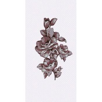 Вставка декоративная Аллегро бордо