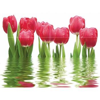 Декоративный массив Тюльпаны светлый