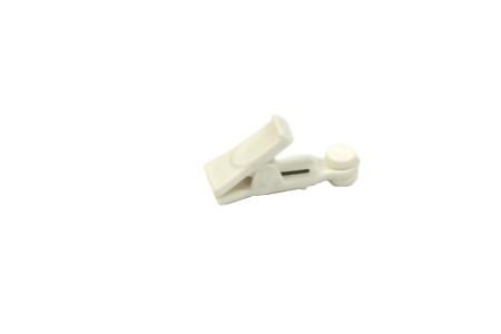 Зажим-ролик для пластмассовой шины, белый (уп. 20шт)
