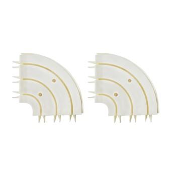 Поворотный соединитель внешний круглый трехрядный (уп. 2шт)