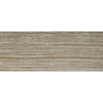 Бленда 50мм для пластмассового карниза, Белый/Золото (уп.4м)