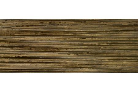 Бленда 50мм для карнизов Спарта, Черный/Золото, (Рулон 25м)