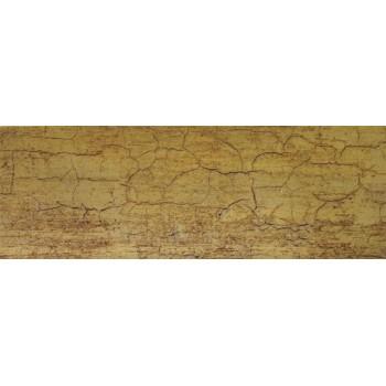Бленда 50мм для пластмассового карниза, Кракелюр золото (уп.4м)