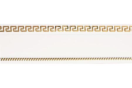 Бленда 68мм для пласт. карниза Тесей, Белый с Золотом (уп.4м)