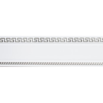 Бленда 68мм для пласт. карниза Тесей, Белый с хромом (уп.3.5м)