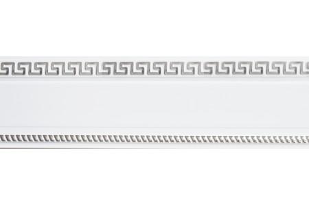 Бленда 68мм для карнизов Спарта Тесей, Белый с хромом (уп.25м)