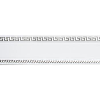 Бленда 68мм для пласт. карниза Тесей, Белый с хромом (уп.4м)